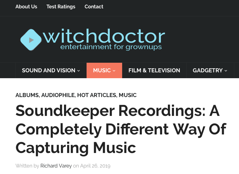 New Story About Soundkeeper Recordings